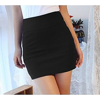 Fashion Stretch Tight Short Mini Skirt Black In India - Shopclues ...