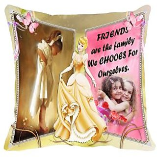 Friends are Family Digitally Printed Cushion Cover (16x16)