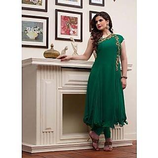 Swaron Green coloured Georgette Anarkali 202D2035