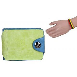 Jstarmart Two Colour Style Wallet With Wrist Band JSMFHWT0382