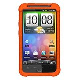 Amzer 89475 Silicone Skin Jelly Case - Orange For HTC Desire HD