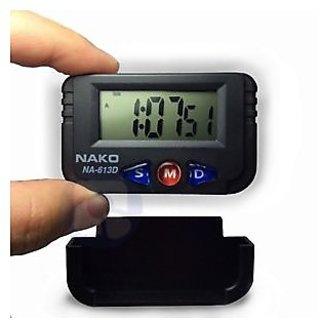 Nako Digital Lcd Dashboard Clock Timer Alarm Calender With Flexible Stand
