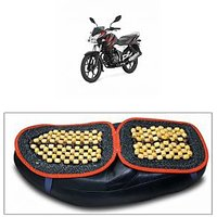 Capeshoppers Wooden Bead Seat Cover For Bajaj Discover 100 T Disc
