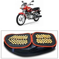 Capeshoppers Wooden Bead Seat Cover For Hero MotoCorp Super Splendor