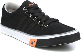 Sparx Men's Black Lace-up Sneakers