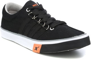 Sparx Men's Black Lace-up Sneakers