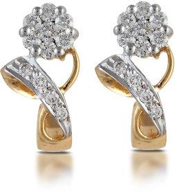 Vestern Vivian 18k Gold Stud Earring with 22 Diamond in 0.39 cts