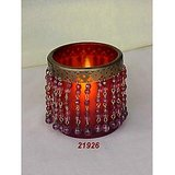 Candle T-Light Votive Glass Frosted Antique Finish