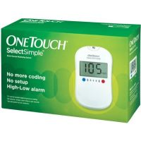 Johnson  Johnson One Touch Select Simple (Kit) Glucometer (White) (10 Strips)