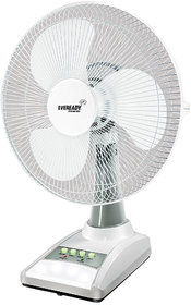 Eveready 14 inch RF03 Rechargeable Table Fan White