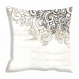 meSleep Floral Absrtract Digitally 16x16 inch Printed  Cushion Cover