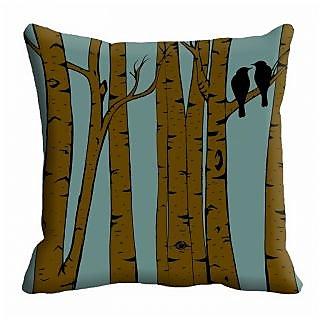 meSleep Tree Bird Digitally Prin ted 16x16 inch  Cushion Covers