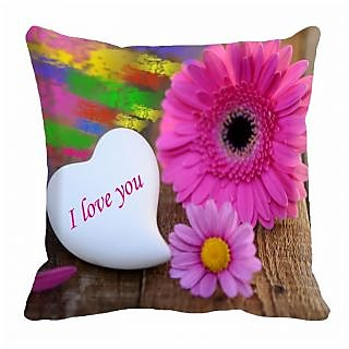 meSleep Flower Digitally Printed 16x16 inch Cushion Cover