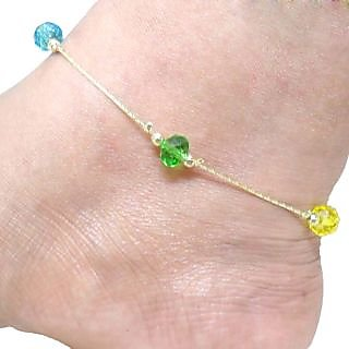 Beadworks Multicolor Beaded Anklet