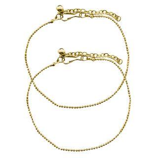 Beadworks designer Gold Plated Anklet