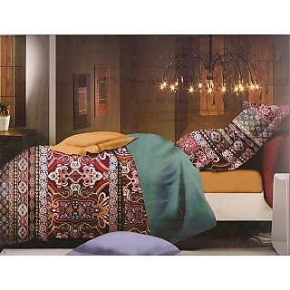 Valtellina  Graphic  Design King Size 3Pcs  Bedsheet Set (ECD-002)