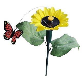 Kawachi Solar Fluttering Butterfly With Sunflower Panels