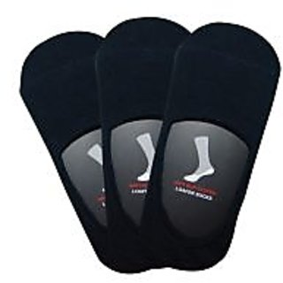 Balenzia Pack of 3 Navy Anti-Slip Loafer Socks