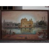 The Golden Temple Amritsar Oil Painting On Canvas