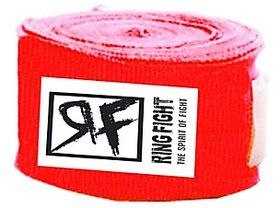 Ring Fight Red Hand Wrap 180  1 Pair