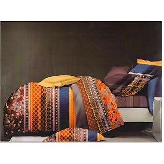 Valtellina Checkred Design King Size 3Pcs  Bedsheet Set (ECD-015)
