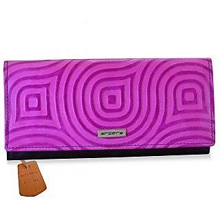 arpera abstract Genuine Leather ladies wallet  pink C11527-32