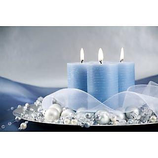 Plastic Pillar Led Candle Blue