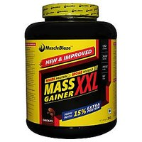 MuscleBlaze Mass Gainer XXL , Chocolate, 1.5 Kg / 3.3 L - 76636554