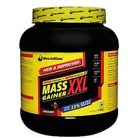 MuscleBlaze Mass Gainer XXL , Chocolate, 1.5 Kg / 3.3 L