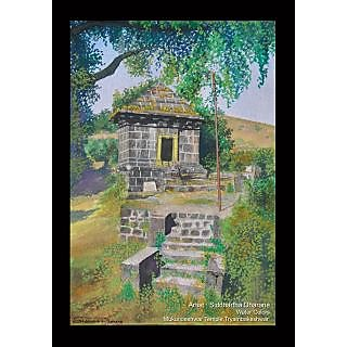 The beautiful water color painting of 'Mukundeshwar' temple.