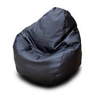 Manjari XXXL Bean Bag Cover-Black (Without Beans) Diameter: 27