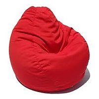XXXL Bean Bag Cover-RED (Without Beans) Diameter 27 inches, Height38 inches