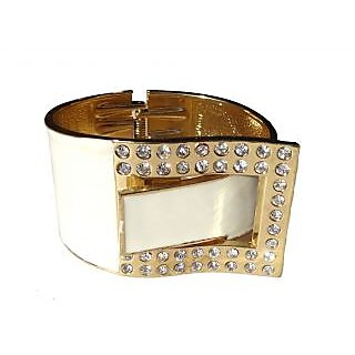 Fancy White Bangle / Bracelet - 760