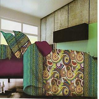Valtellina Traditioal Design 3d King Size 3Pcs  Bedsheet Set (BOD-01)