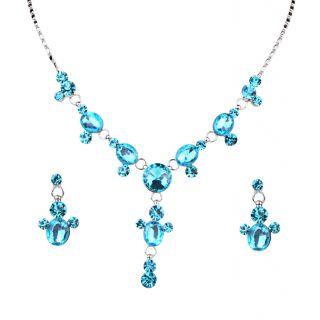Urthn Sky Blue Pretty Necklace Set - 1102809