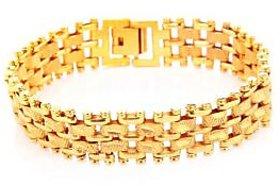 Goldnera Stylish Yo Yo Gold Plated Men's Adjustable Bracelet