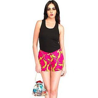 Elegant Pink Blocks Digital Printed Just Shorts