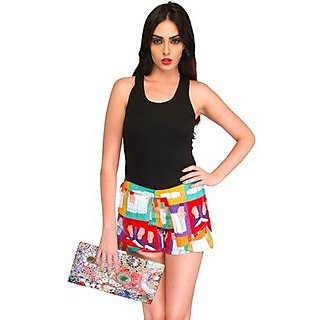 Latest Colorful Books Digital Printed Just Shorts