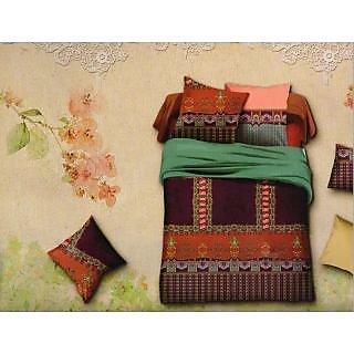 Valtellina Traditioal Design 3d King Size 3Pcs  Bedsheet Set (BOD-15)