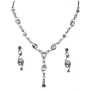 Urthn Pretty White Necklace Set - 1102830