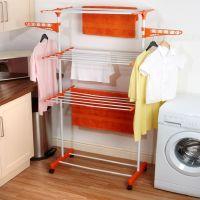 Kawachi Metal Easy 3 Layers Cloth Drying Self Standing Stand