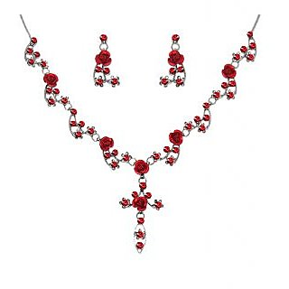 Urthn Exclusive Red Necklace Set - 1102851