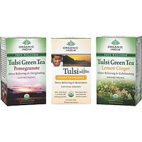Set Of 3 - Tulsi Tea 18 Tea Bags Tulsi Pomegranate Tuli Honey Chamococile