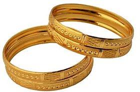 Czar Set of Four Sparkling Golden Bangles(BANGLE843)
