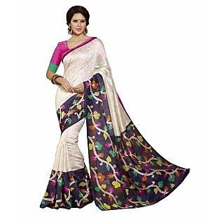 Bhavi Printed Maheshwari Silk Sari (BHVP12509)