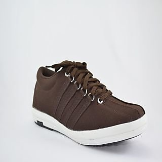 Fossa Brown Canvas Shoes