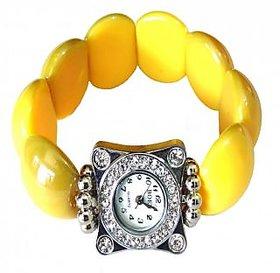 Yellow Square Bracelet Watch - 718