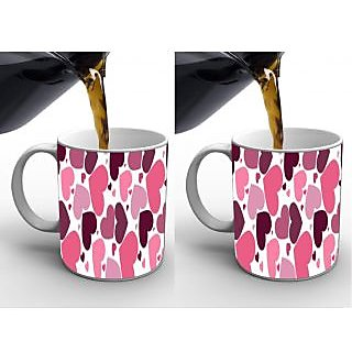 Heart digital printed mug