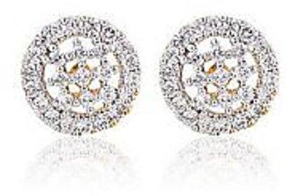 Sheetal Jewellery Gold and Glittering Zircon Earrings