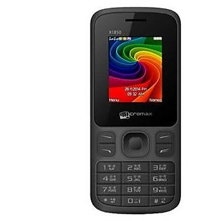 Micromax Mobile X1850 Black without Charger  Ear phone
